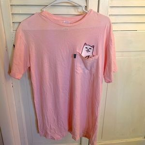 Rip and dip pink oversized t shirts